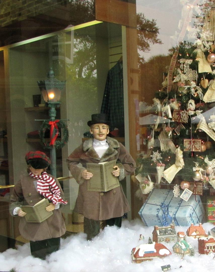 charles dickens christmas display window