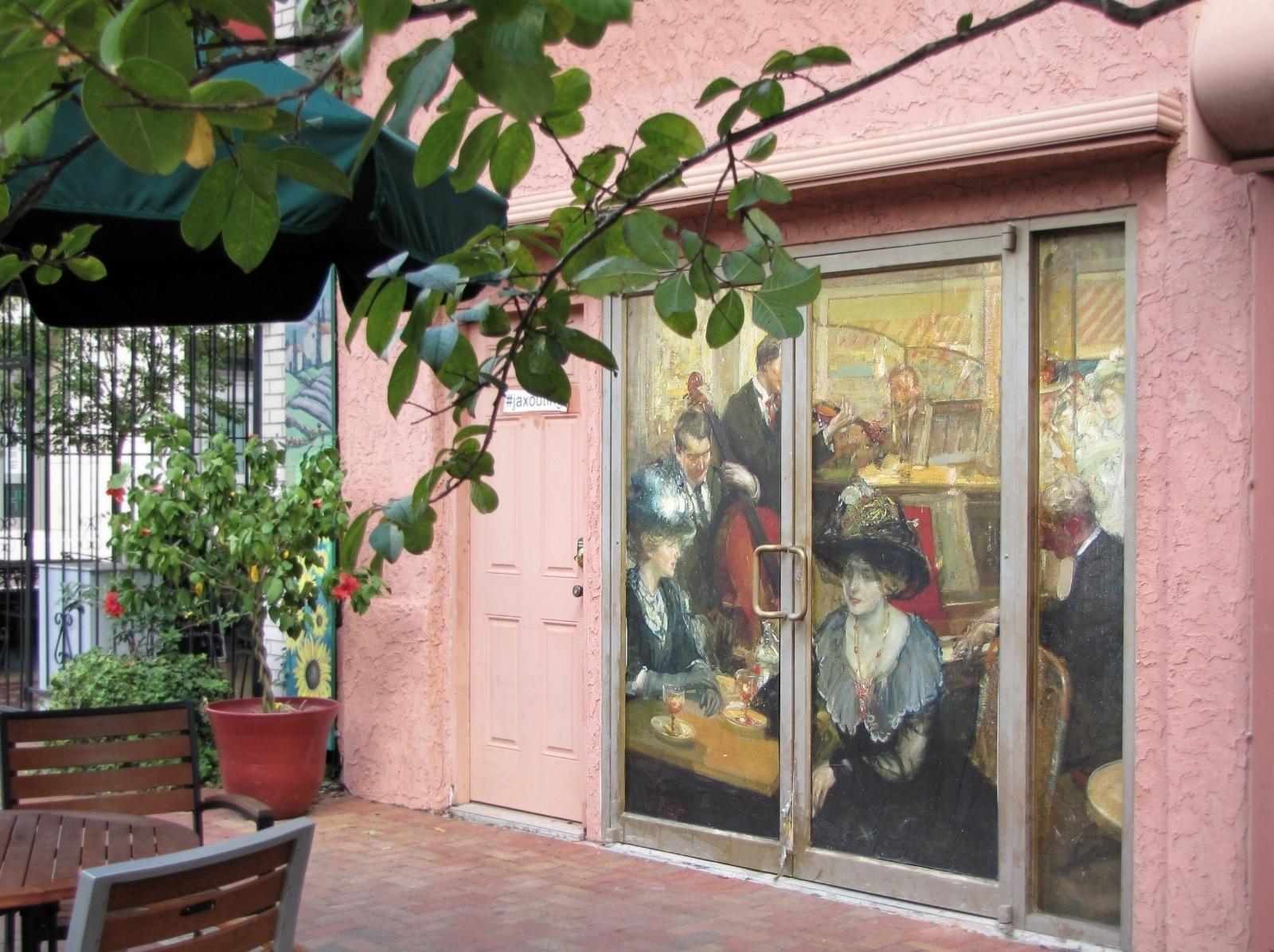 'Café L' avenue , Paris' by Richard Emile Miller c.1906-1910. Laura Street near Chamblin's.
