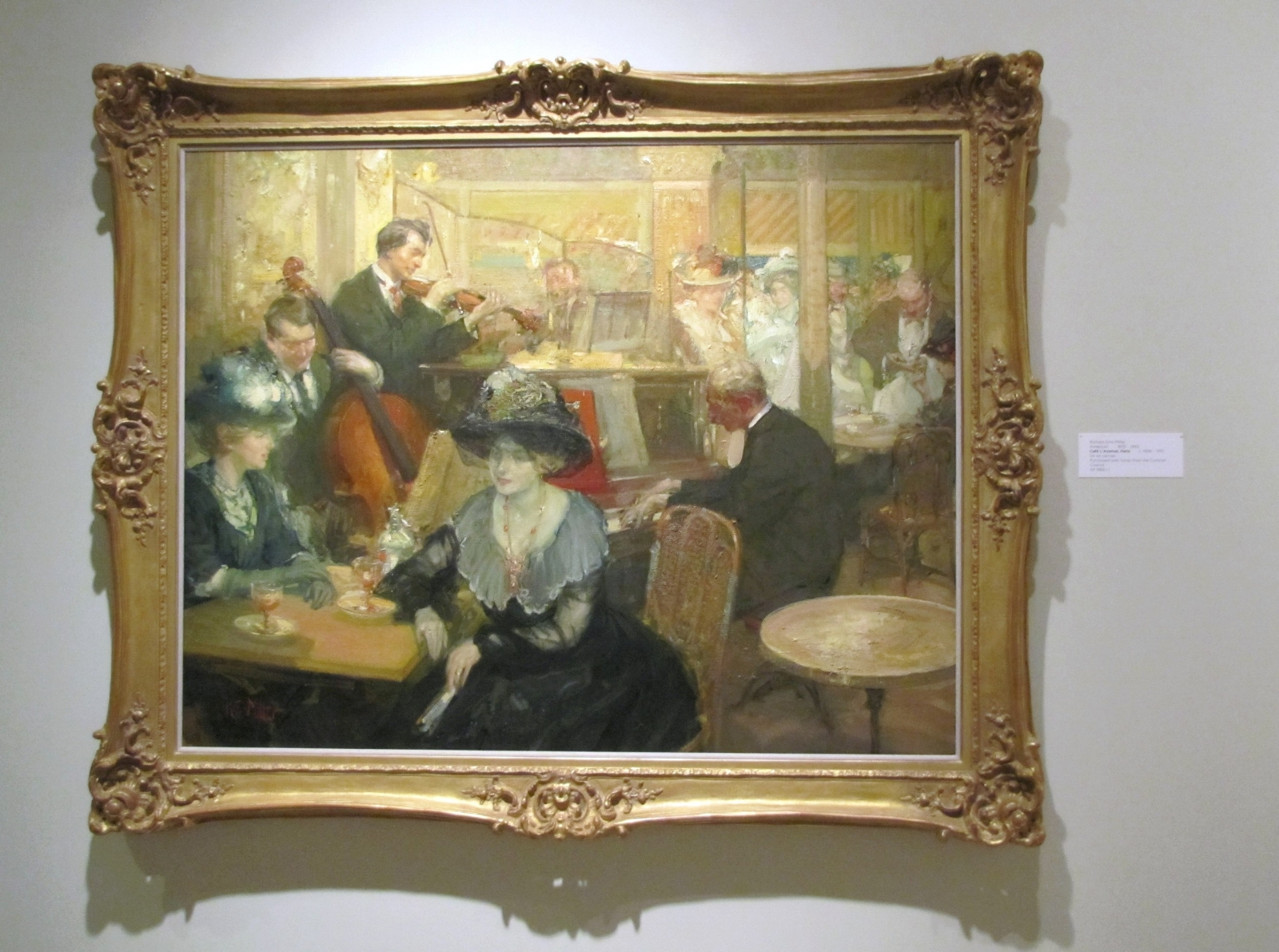 Cafe L'Avenue Paris by Richard Emile Miller at Cummer Museum Jacksonville