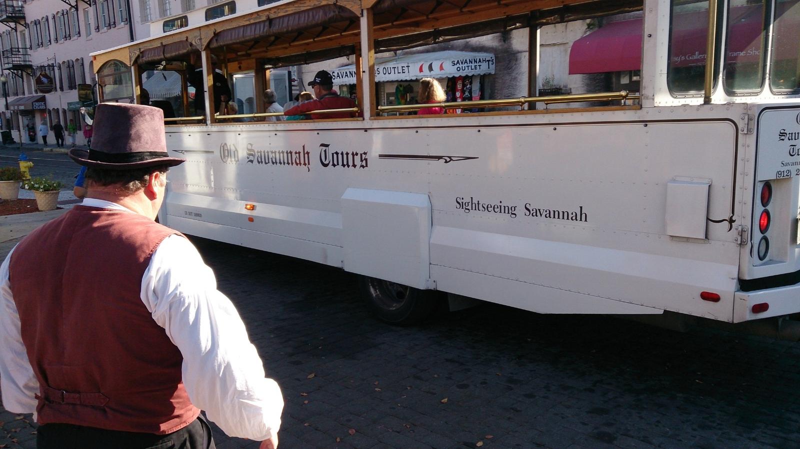 historic Savannah tour trolley