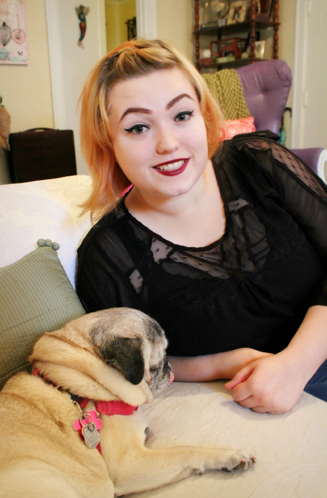 Kate Daley Parker and her pet pug
