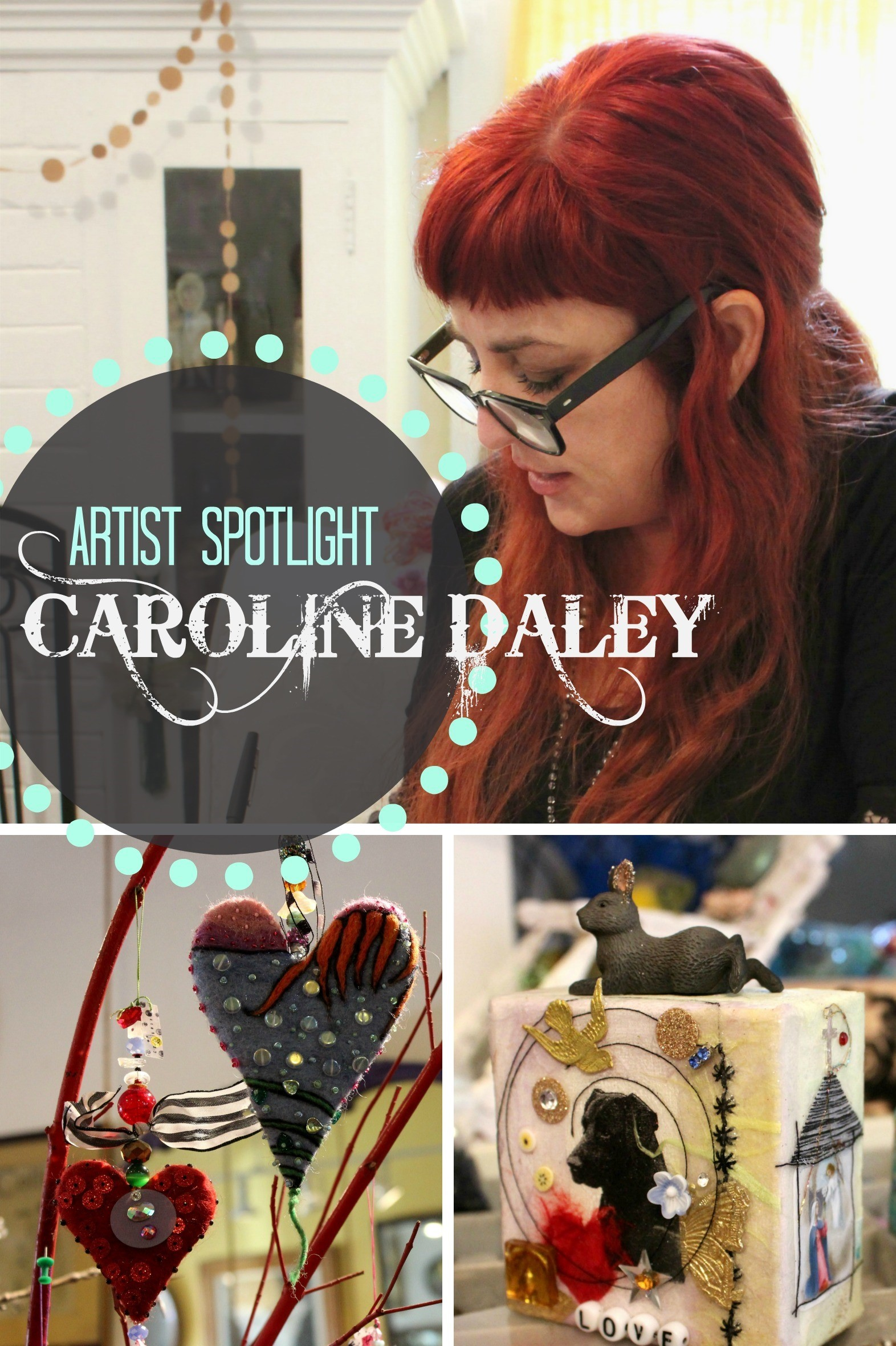 Mixed media artist Caroline Daley