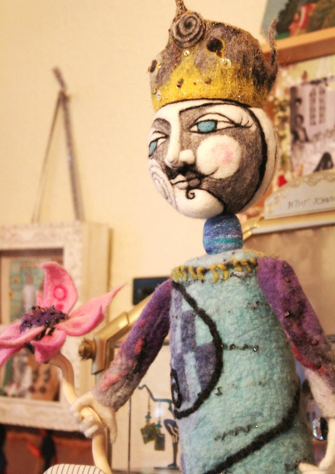 felted fantasy sculpture by Caroline Daley