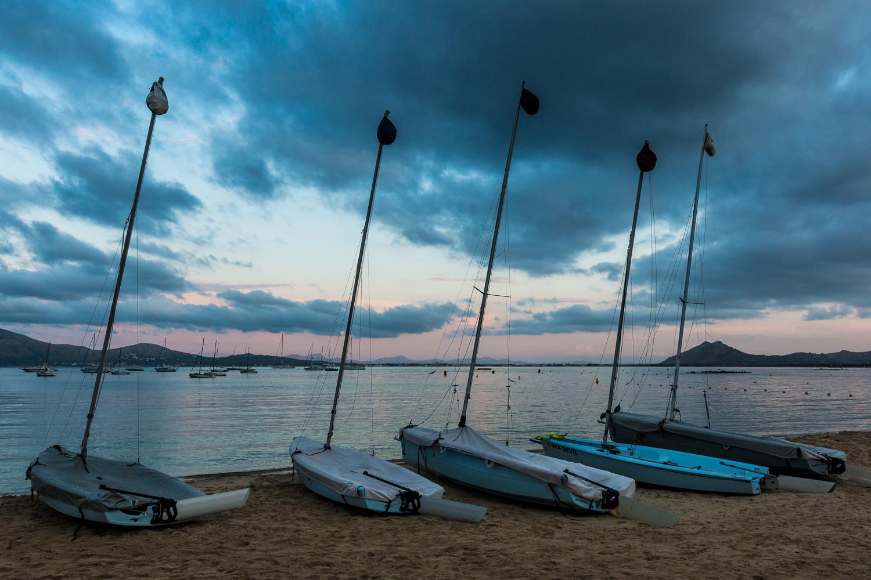 Boats at Puerta Pollenca, Majorca