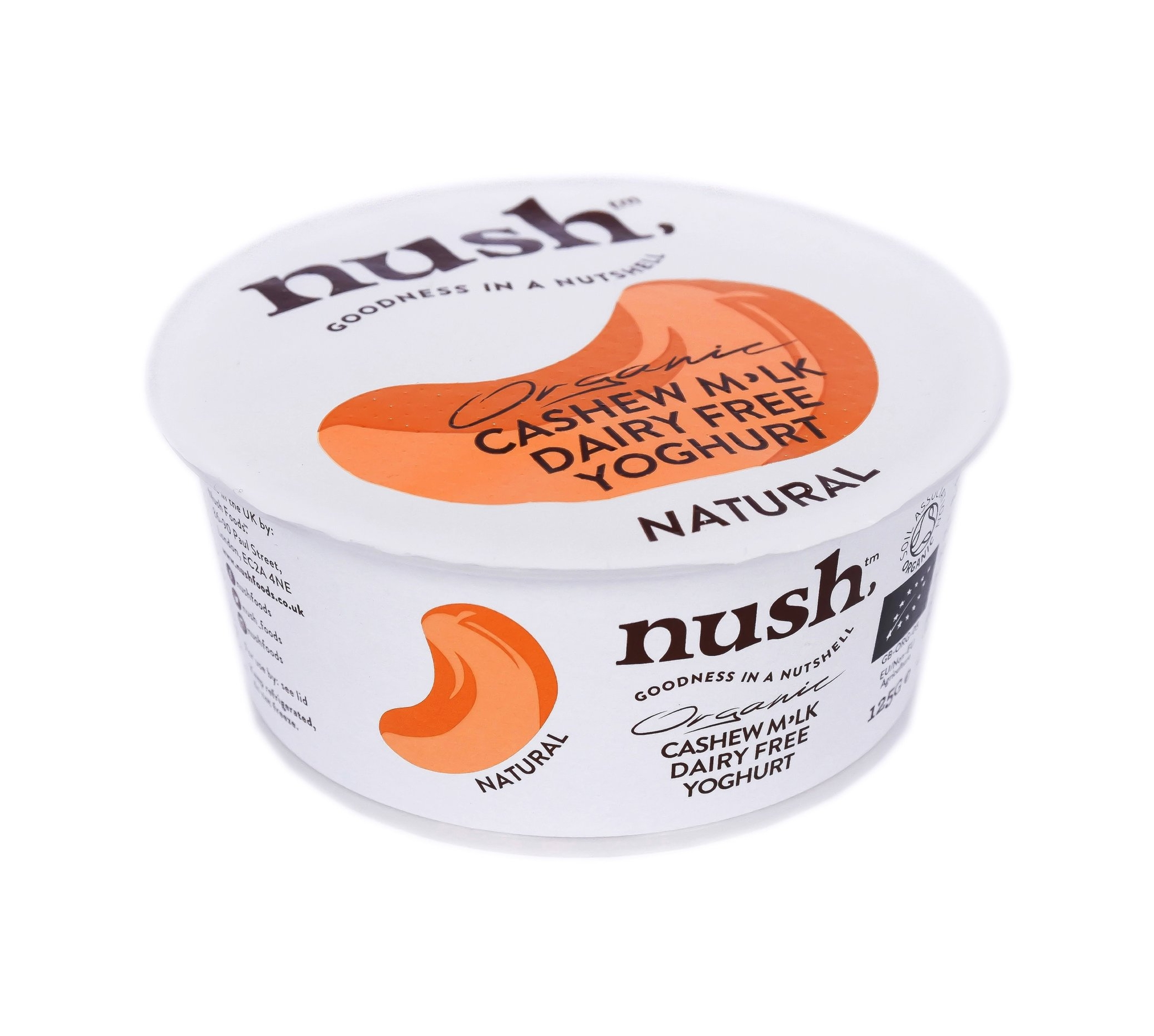 Nush - Creamy cashew milk (made from the highest quality organic Vietnamese cashews) is carefully balanced with vegan yoghurt cultures to create a gentle, natural cashew yoghurt; a tasty base for our Cacao & Cashew quinoa granola.