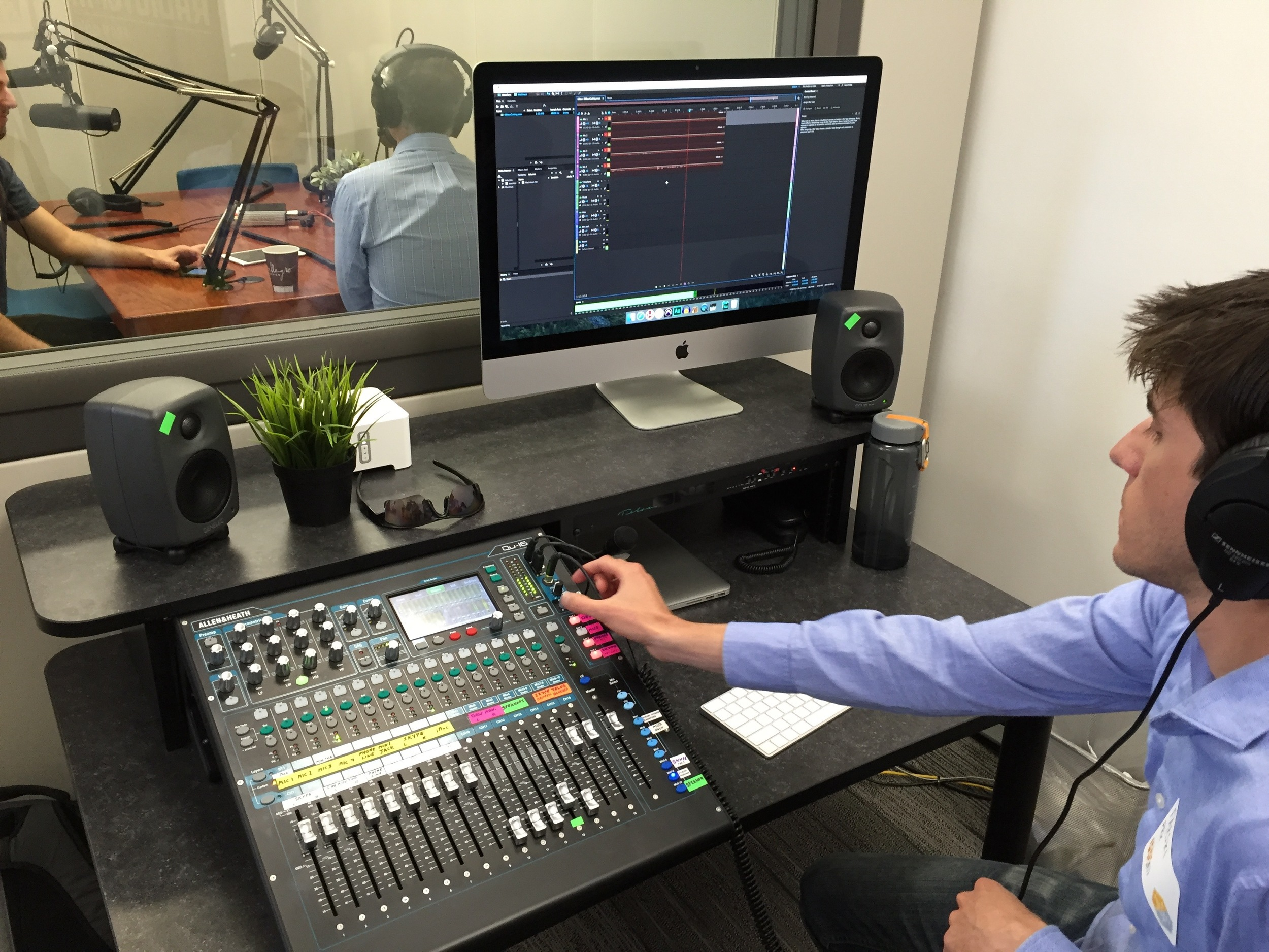 Inside the new studio at PRX's Podcast Garage.