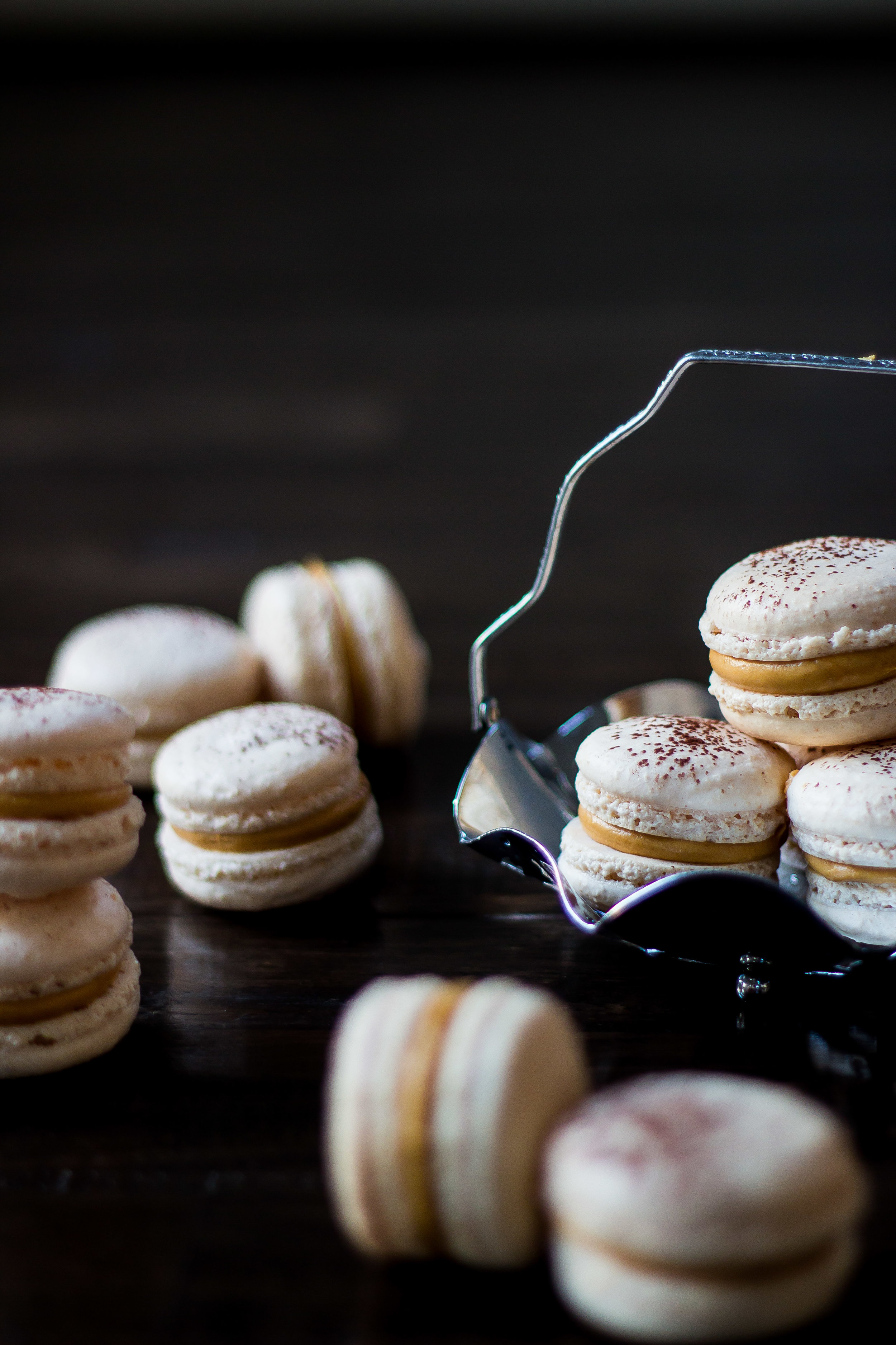 Salted Caramel Macarons -