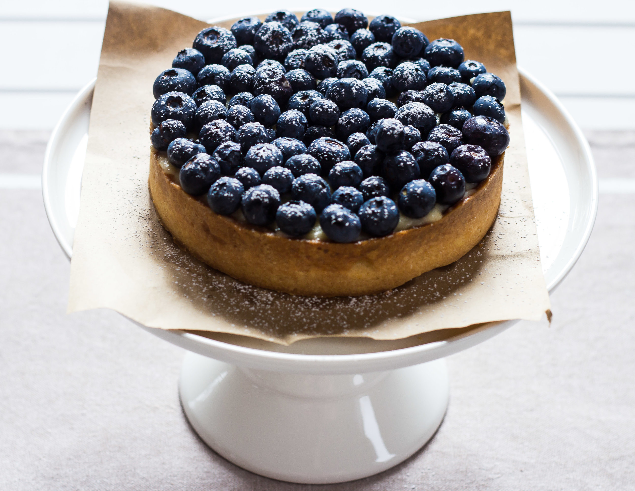 Blueberry Vanilla Tart -
