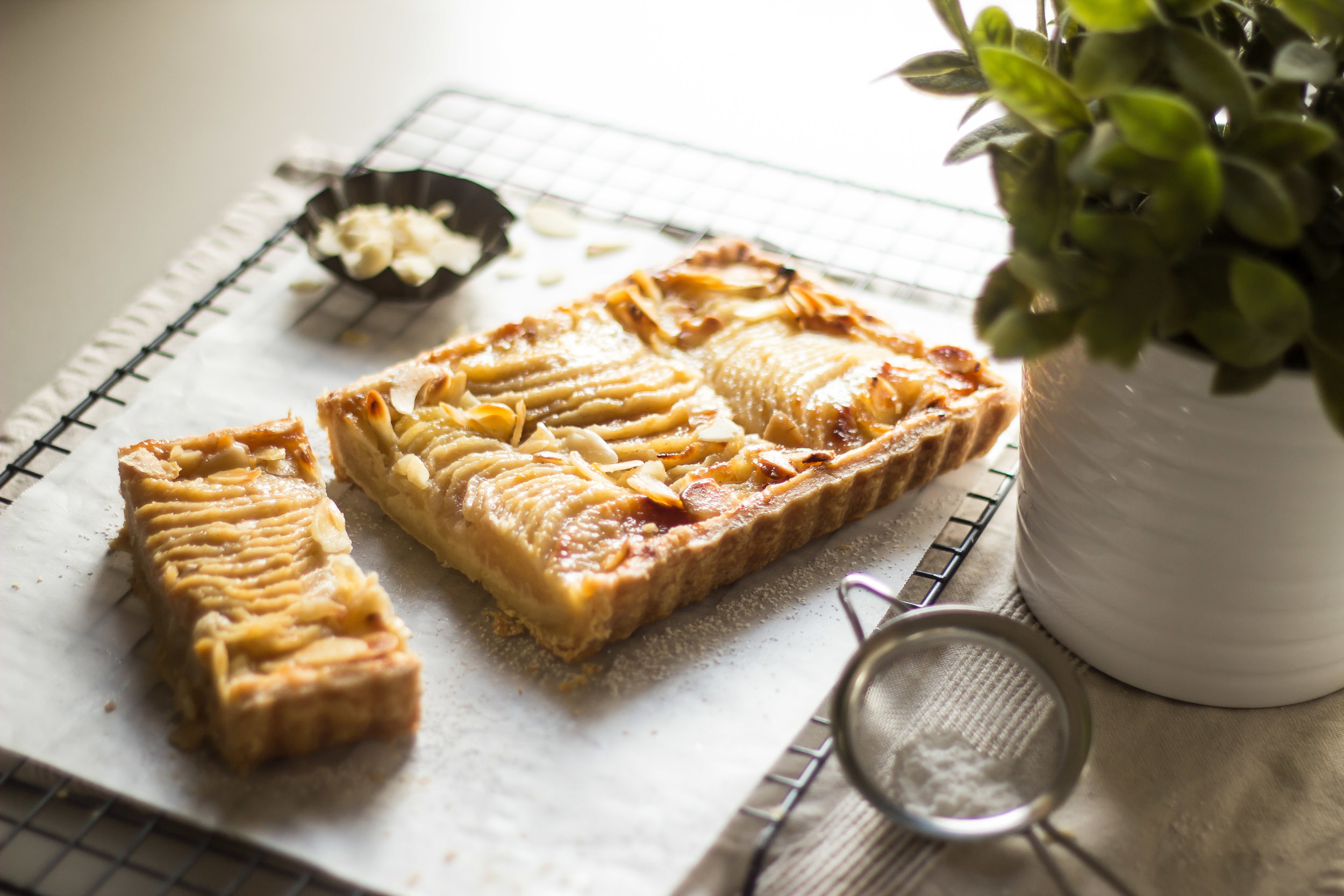 Tarte Bourdaloue (Pear and Almond Tart) -
