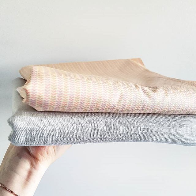 Self-confessed fabric addict. Bottom is a heavy-weight linen to make Indi a pinafore. Top is a cotton to make her a little blouse or dress - yet to decide! Both from @wearethefabricstore