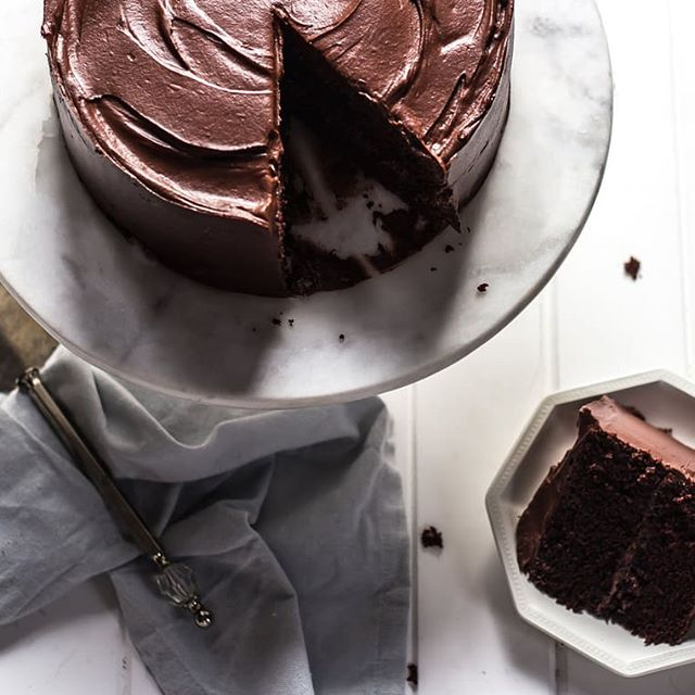 So it was World Chocolate Day yesterday-how did I miss this? But lets be honest, most days should be a day to indulge in a little chocolate, like a piece if my Ultimate Chocolate Cake! 😋 . . What's your favourite chocolate treat?