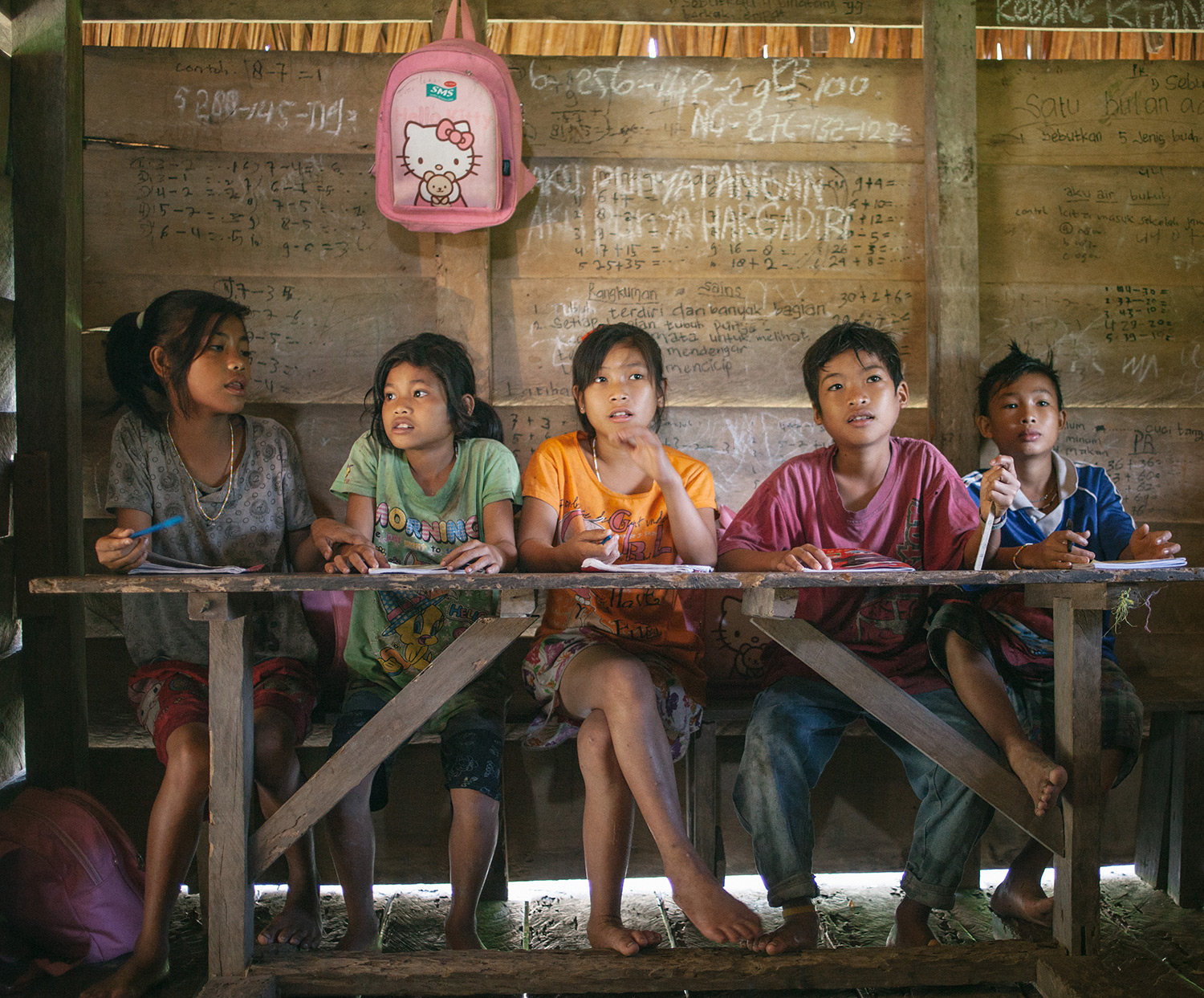 The Mentawai jungle school in the jungle near Buttui initiated by a Christian mission.