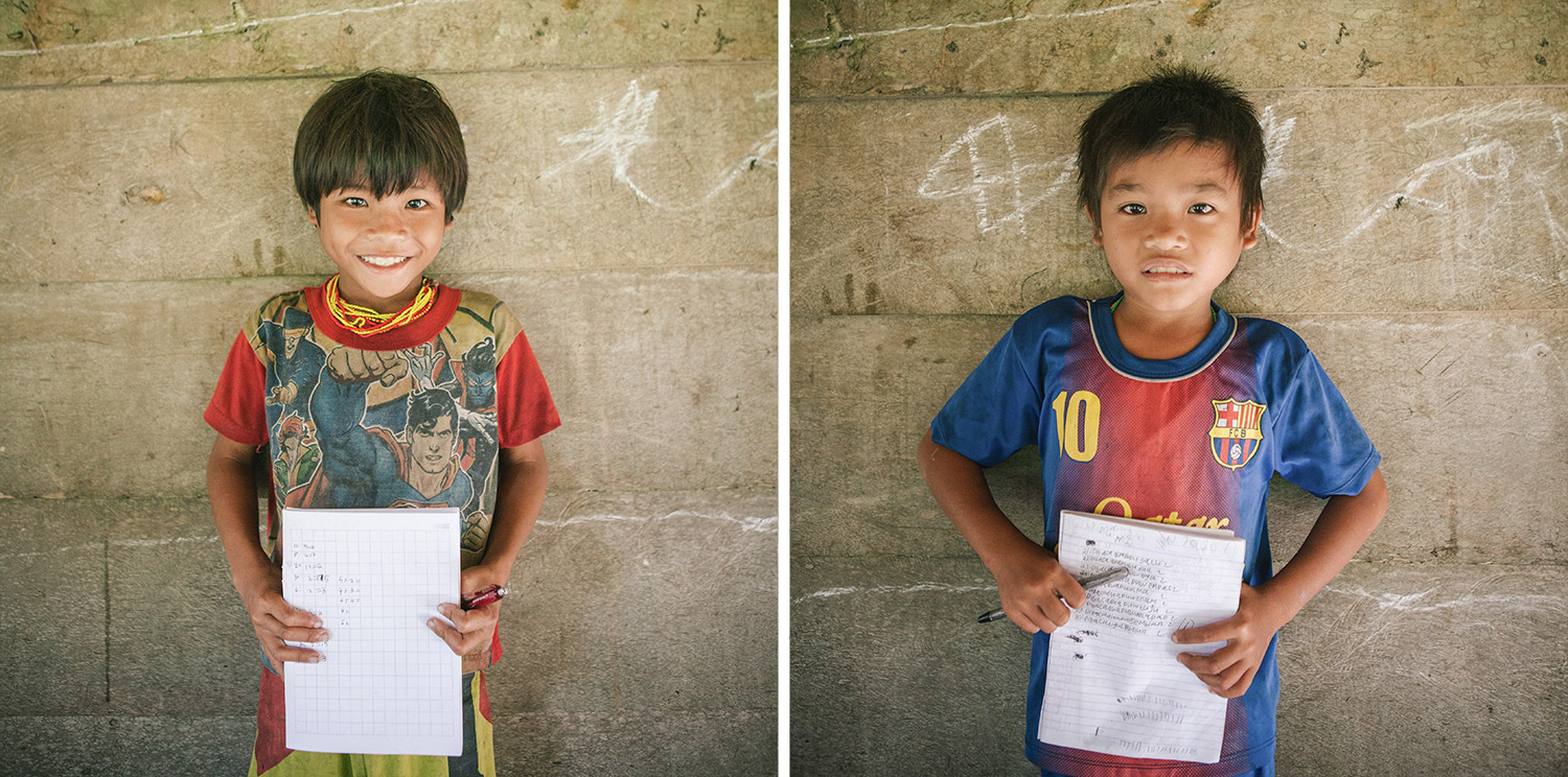 Mentawai jungle school students.