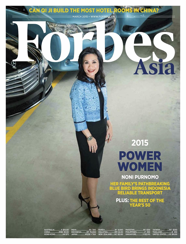 Noni Purnomo for  Forbes Asia's  Cover March 2015