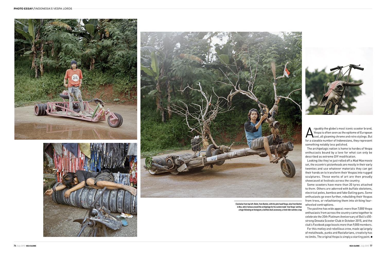 Rebel Riders (Indonesia's Extreme Vespa) in  SEA Globe Magazine  July 2017