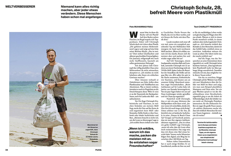 Christoph Schulz's portrait in  Stern's Neon Magazin