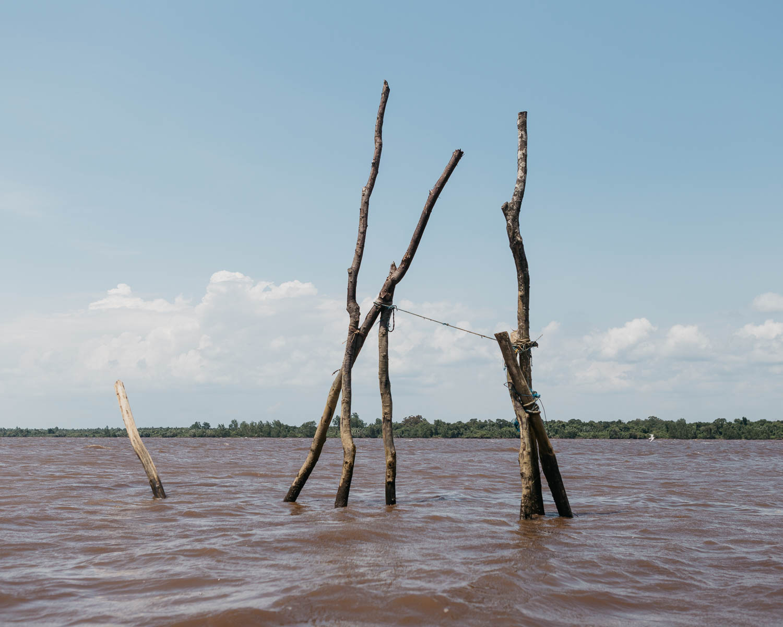 View of Mentaya River in Central Kalimantan.