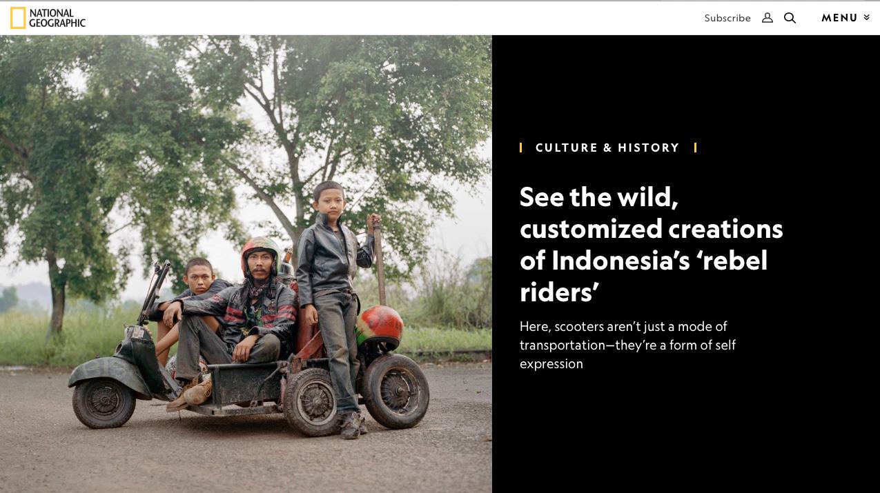 Rebel Riders in National Geographic (digital), April 2018
