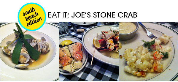 Clams, Stone Crab Claws, King Crab Legs, Lobster Mac & Cheese
