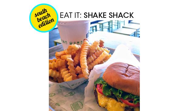 Chocolate shake, fries and single shack burger