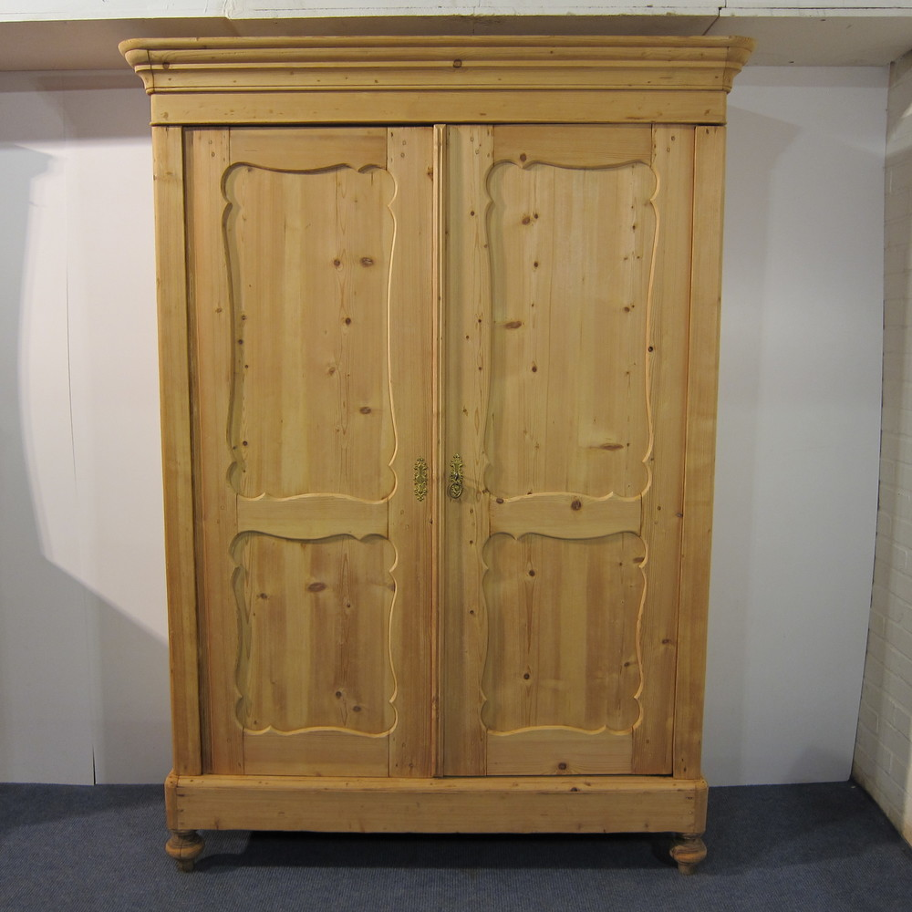 Large Shallow Old Pine Wardrobe/Cupboard Dismantles D9D —  Pinefinders Old Pine Furniture Warehouse   Antique Pine
