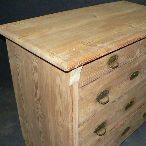 Chest of drawers before being waxed - in the bare wood