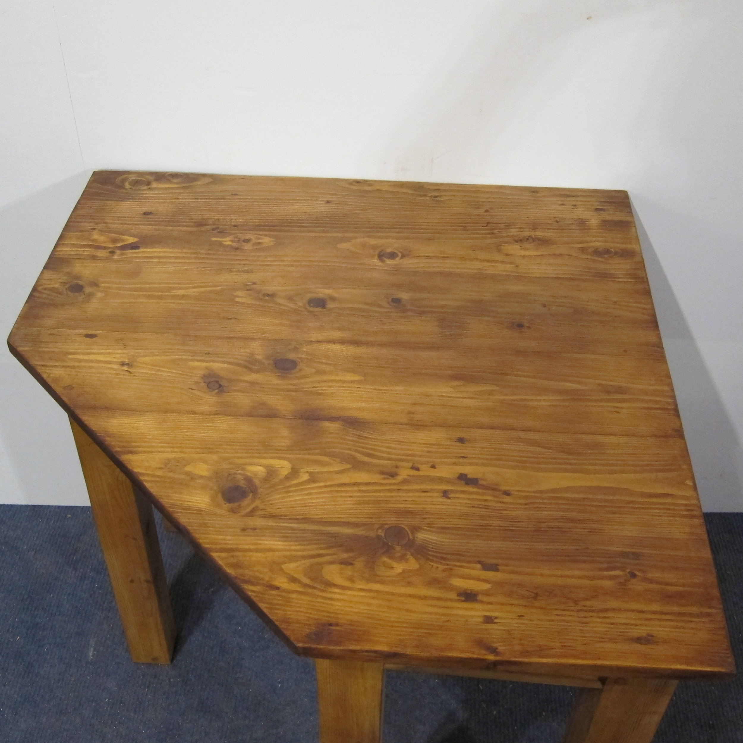 Small table made from old pine floorboards