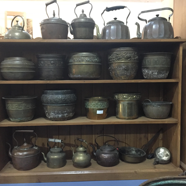 Antique Copper Kettles & Small Pots and Cauldrons