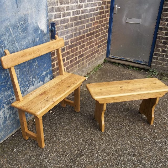 made to measure pine benches hand made