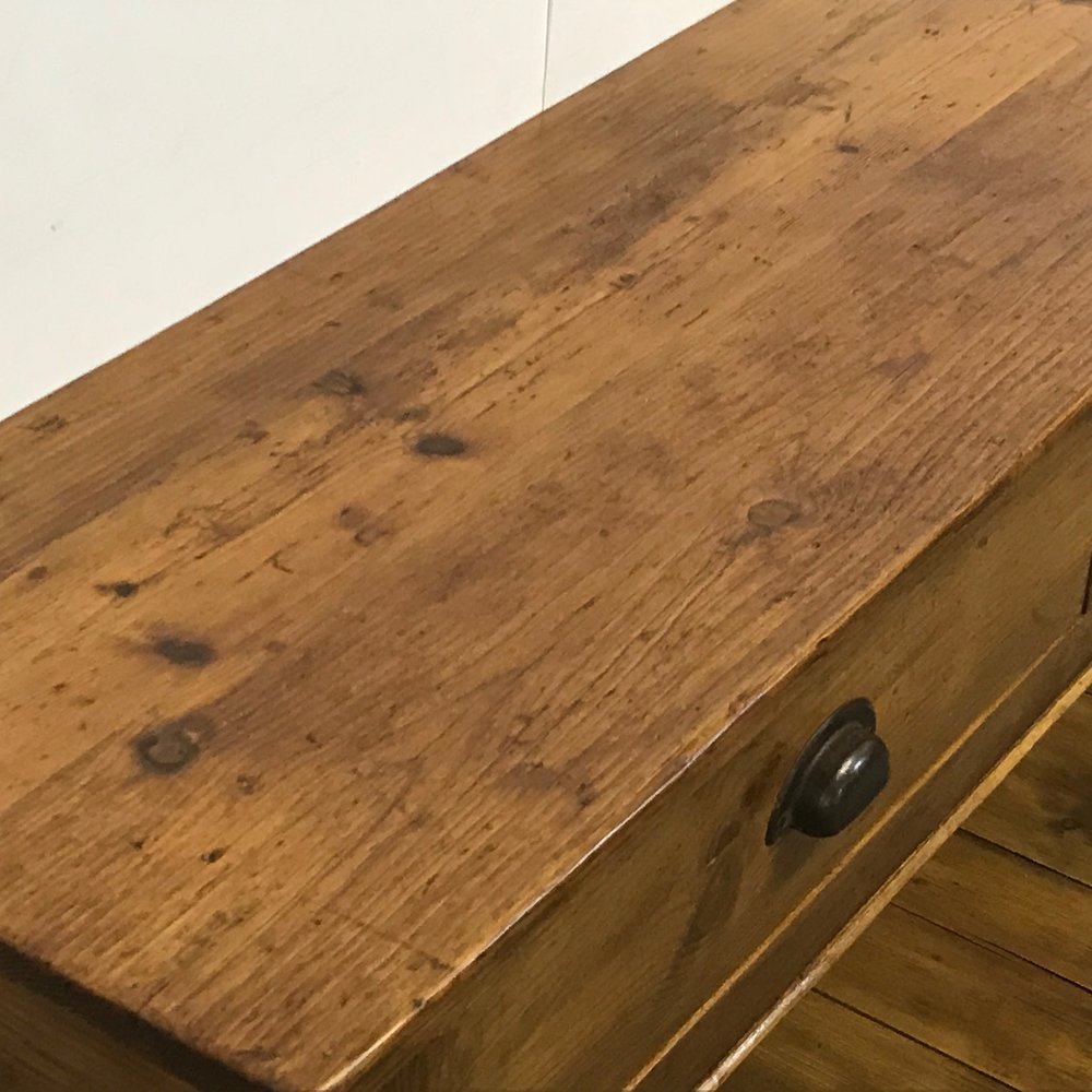 Made from old pine floorboards