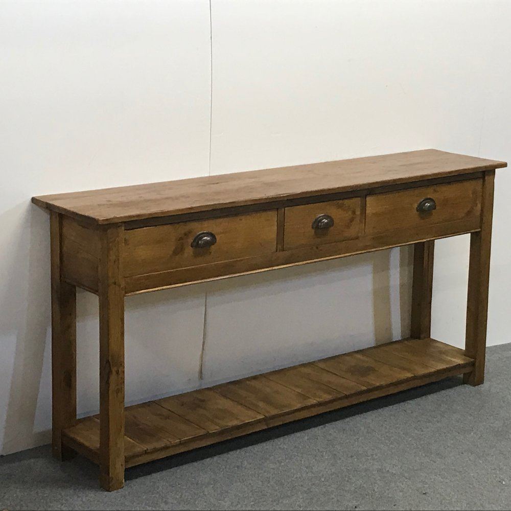 3 drawer pot board console table