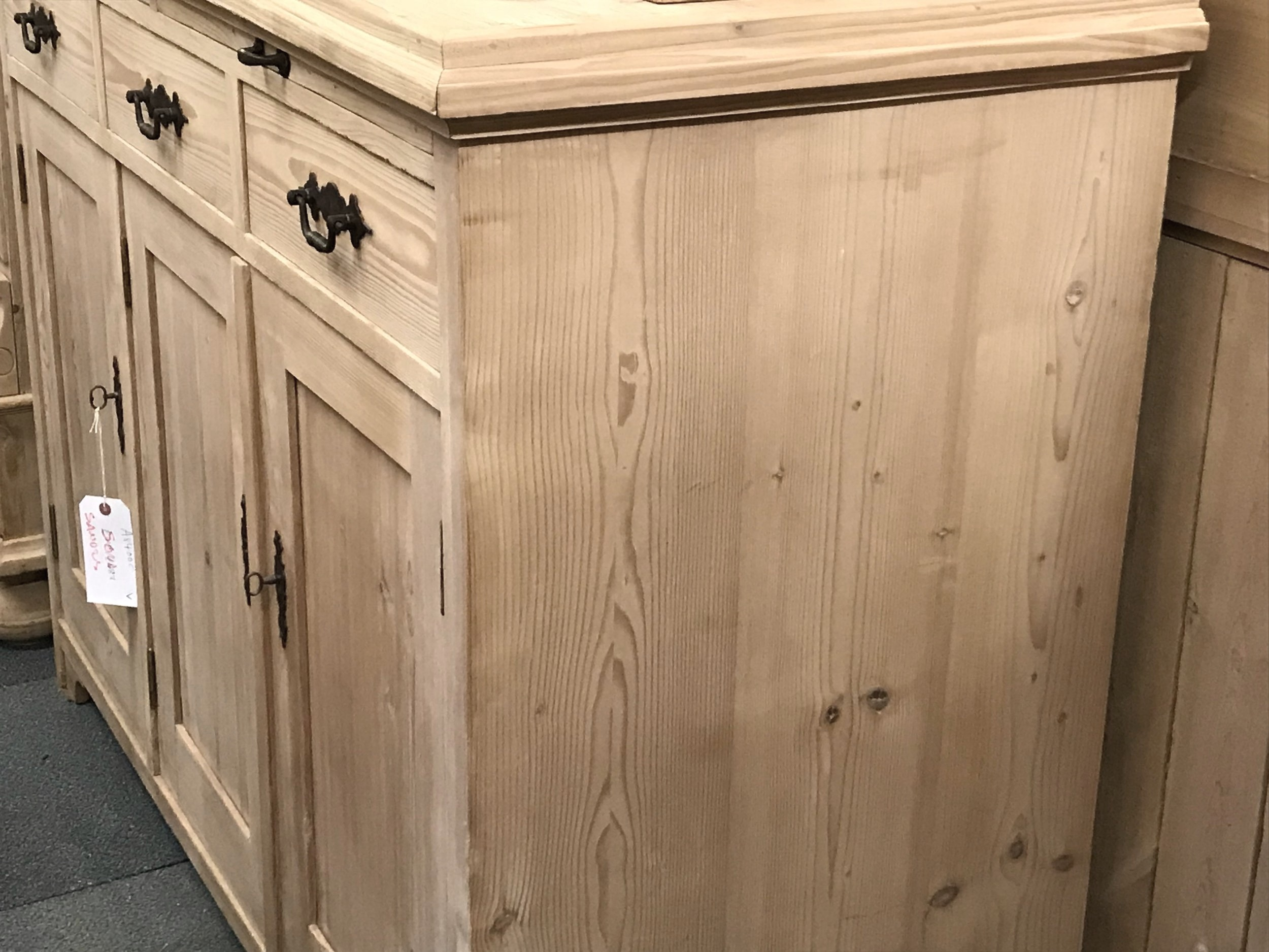 For contrast: here's a cupboard in the bare wood