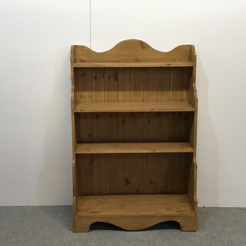 Small Polished Pine Waterfall Bookcase C6656b Pinefinders Old
