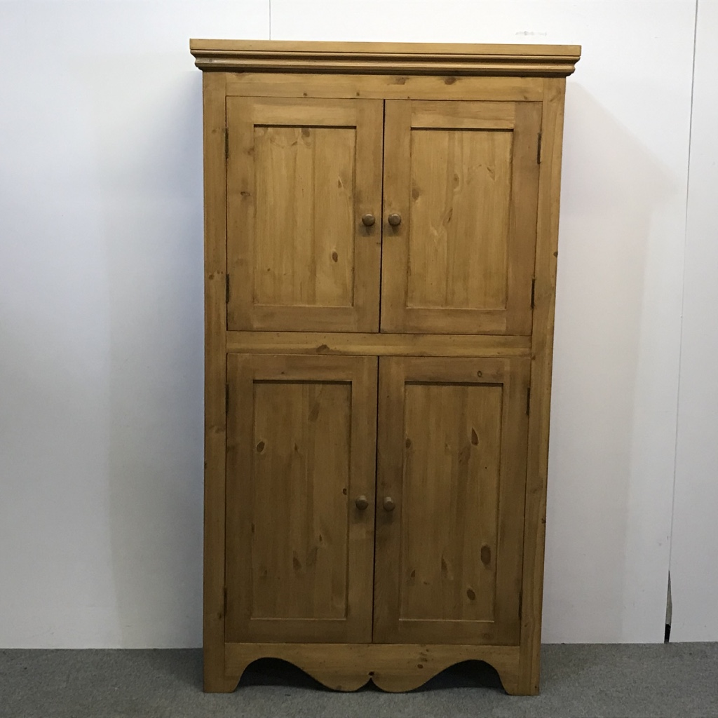 Large pine cupboard made to measure