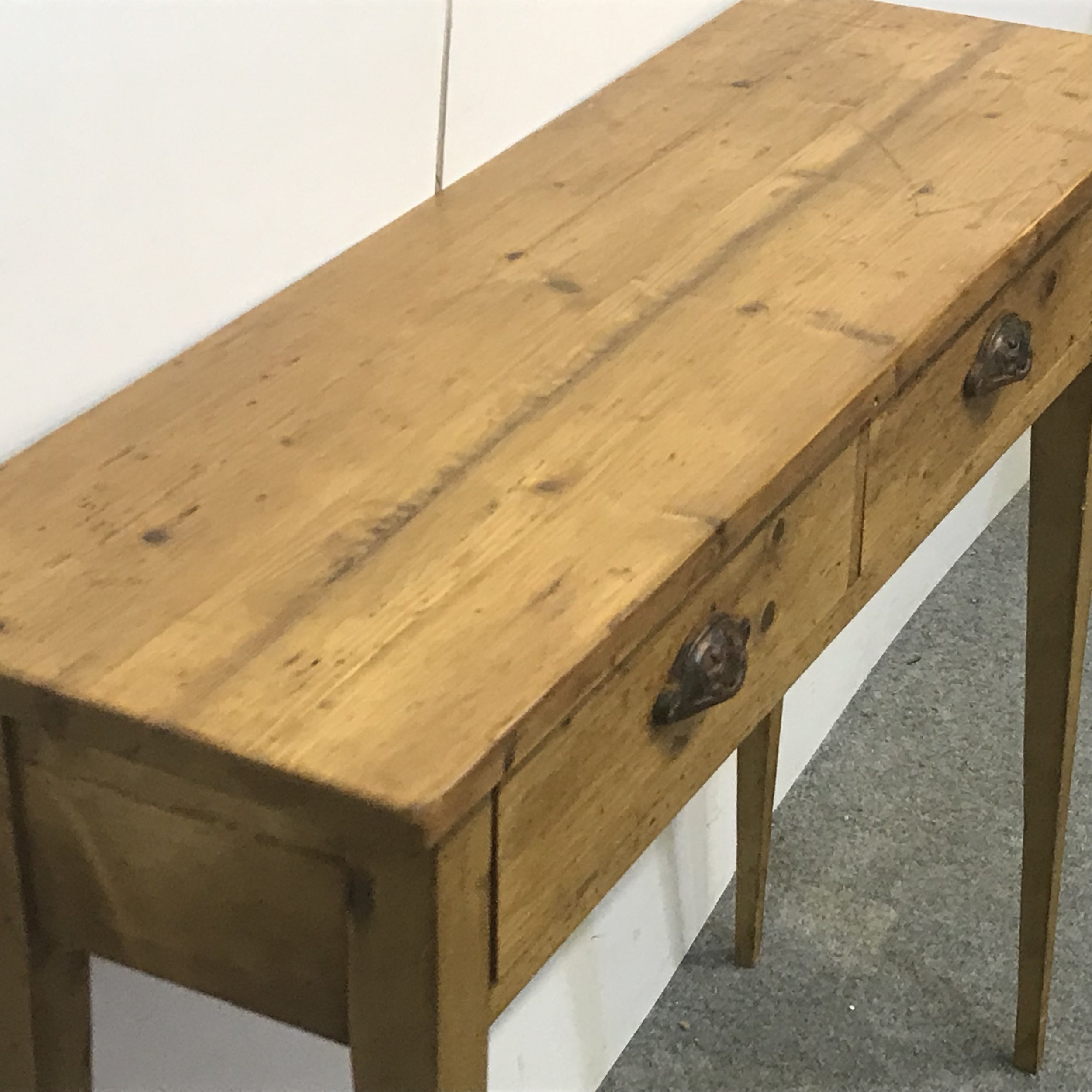 Side table made from rustic old pine