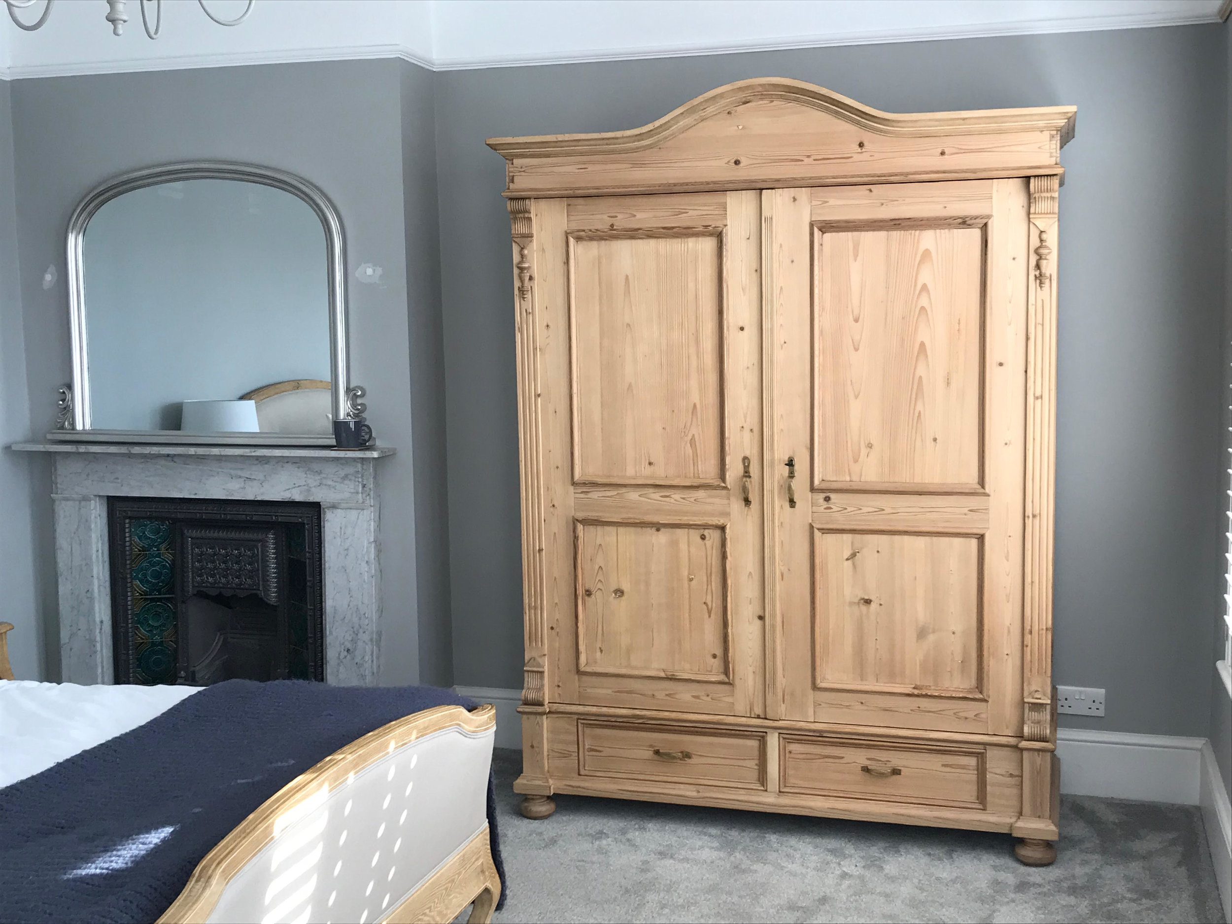 Arched Top Antique Pine Wardrobe
