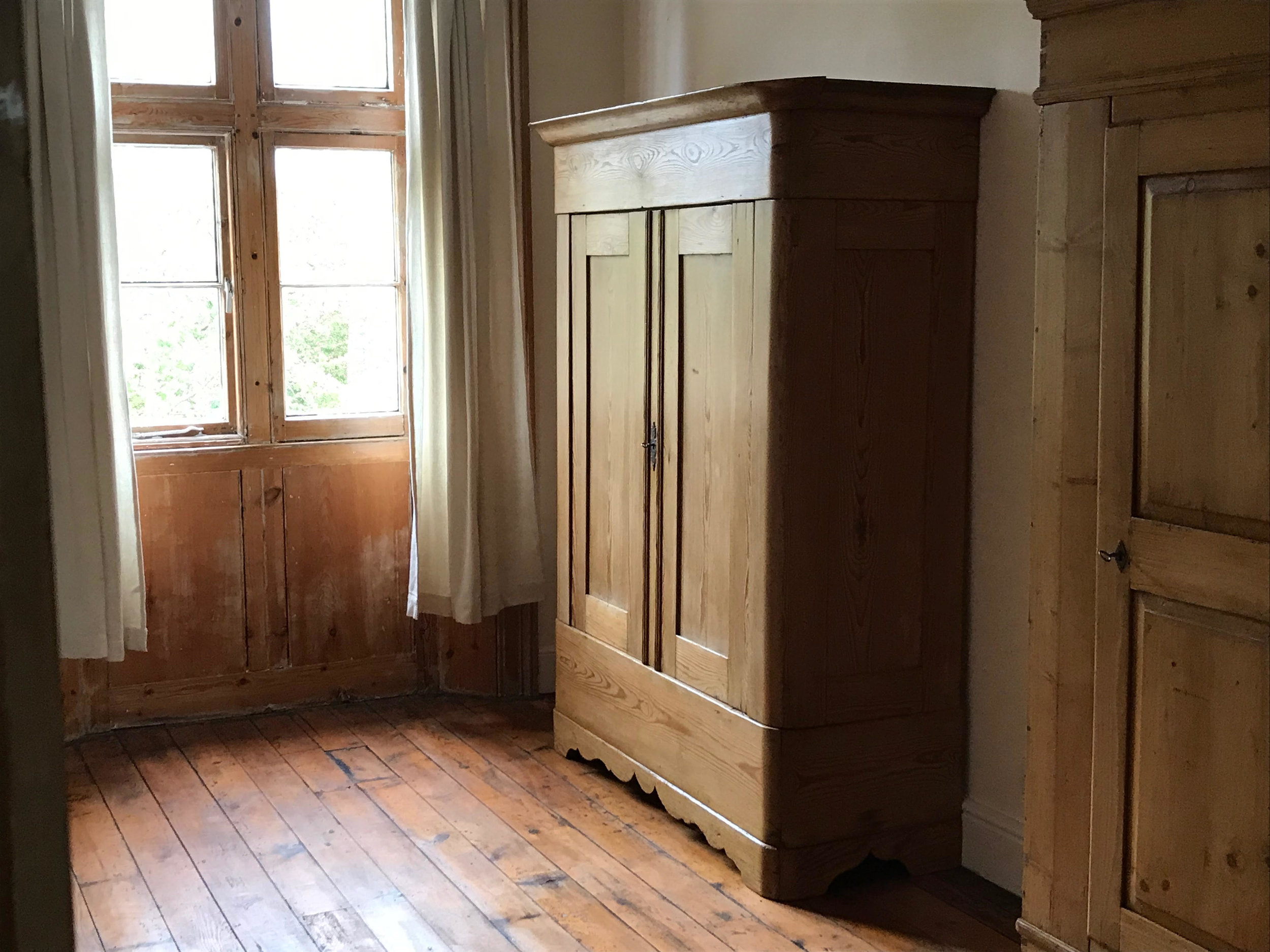 Large Antique Pine Wardrobe