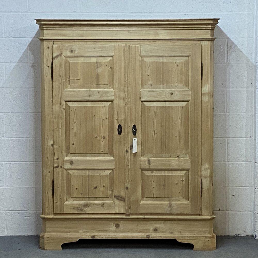 Antique Pine Panelled Wardrobe Dismantles G9F — Pinefinders Old Pine  Furniture Warehouse   Antique Pine