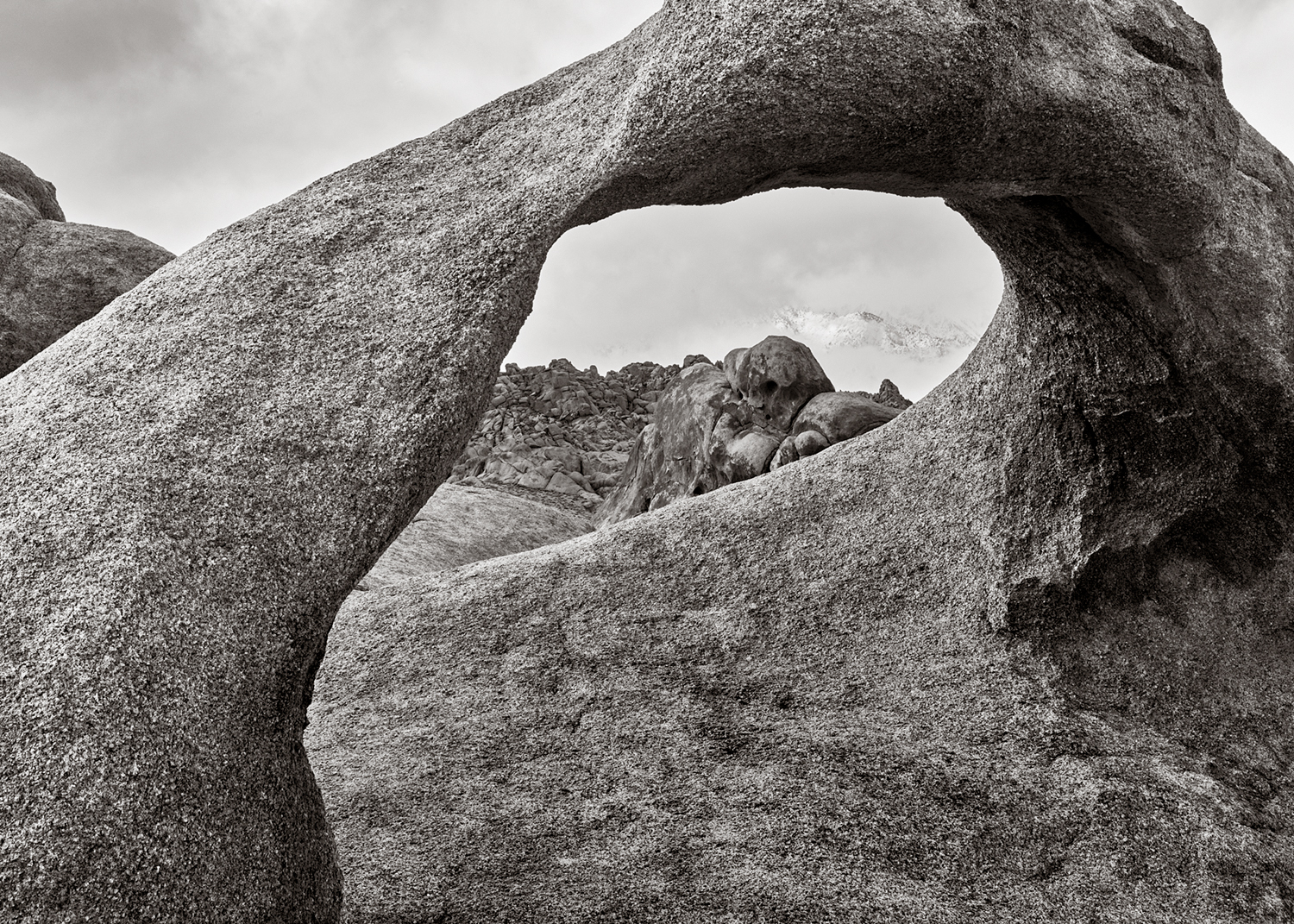 Mobius Arch in Black and White, Alabama Hills, Lone Pine, California