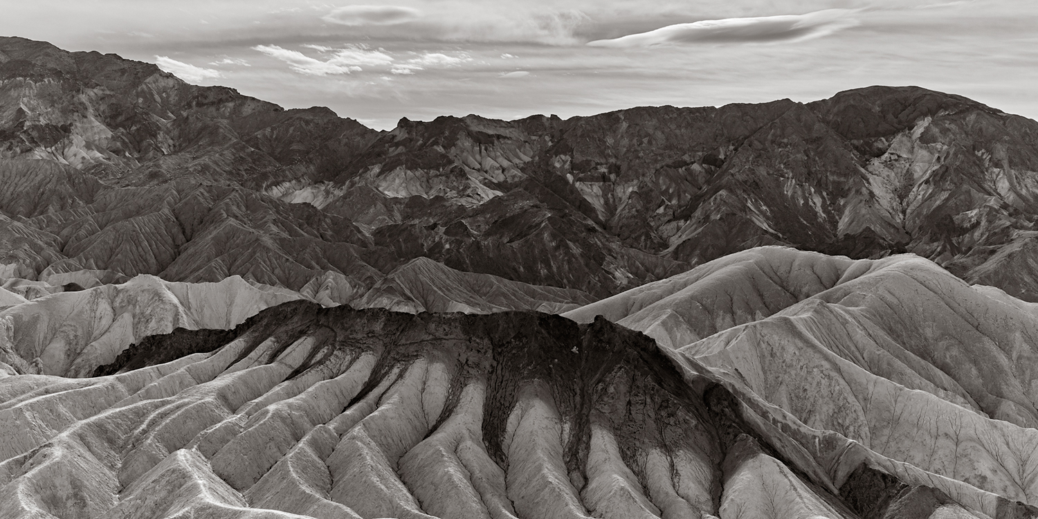 Zabriskie Point, Death Valley National Park with the Leica M Monochrome using Capture One Pro and printing with custom Piezography multi gray inks