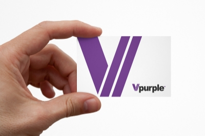 Vpurple logo redesign by Ian Paget
