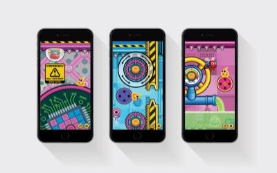 GooHoo design on iPhone