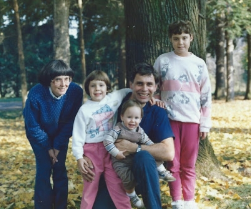 autumn family photo maybe the same year, not really sure