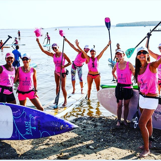 loved being part of this crew- thanks Gina 💗 @paddlediva @bcrfcure #paddleforpink #hamptonspaddleforpink