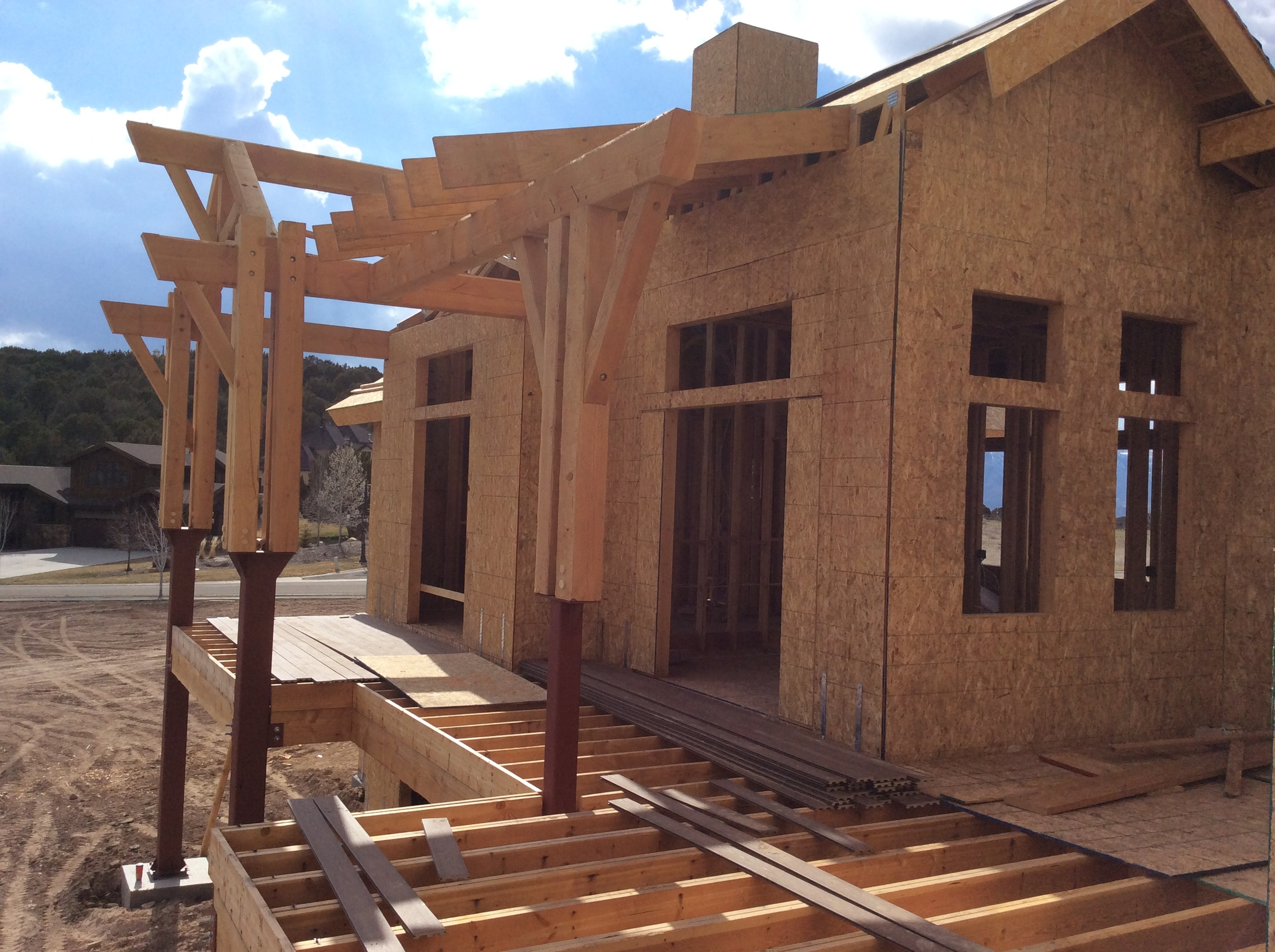 Custom timber and woodwork in Park City & Heber.   Timber & Trusses