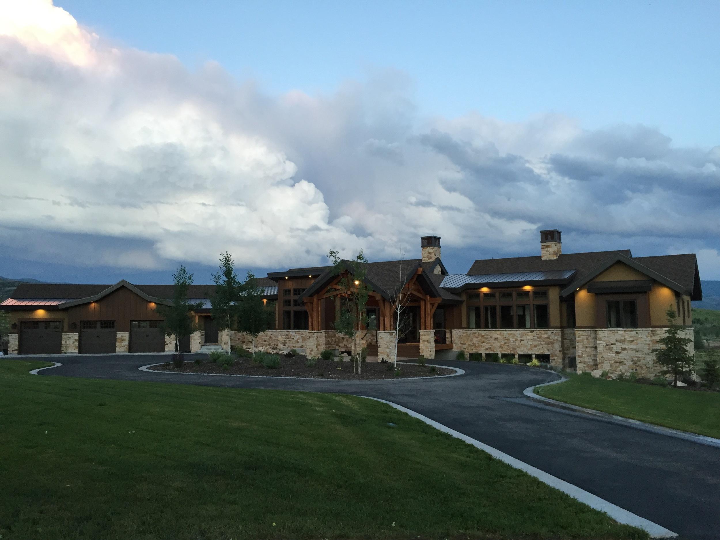 Designing & building this award winning home in Heber, Utah.   Deerbridge House