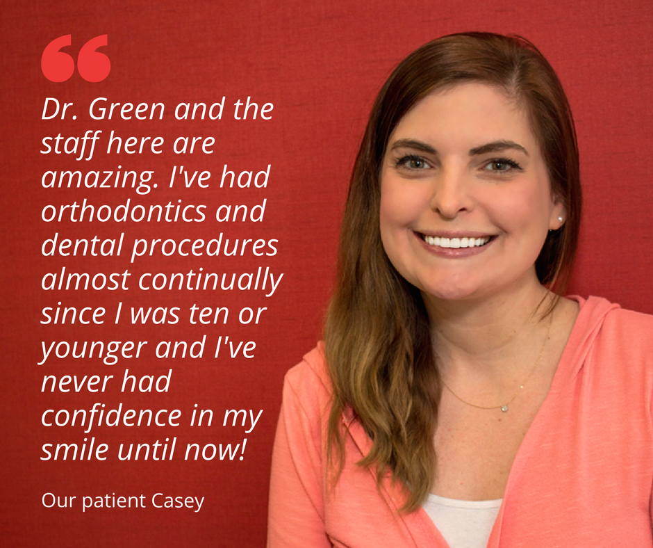 Cosmetic dentist Dr. Randi Green patient Casey