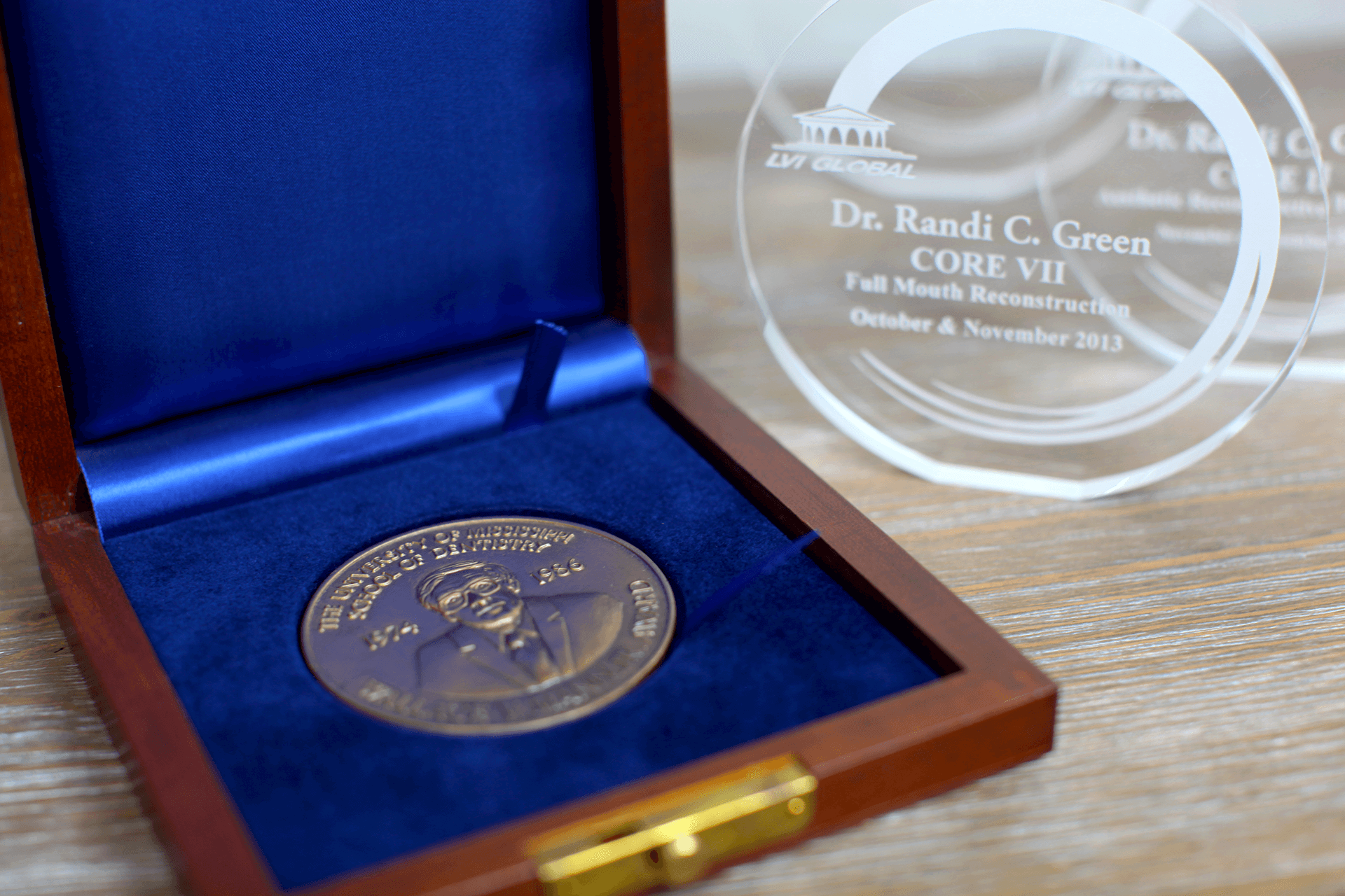 Wallace V. Mann Jr. Award for dentists that graduate #1.