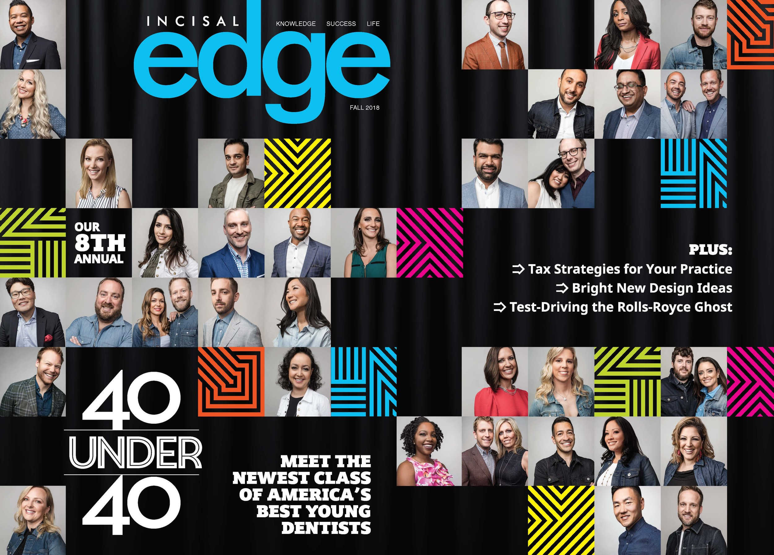 Incisal Edge 2018 Fall Cover featuring 2018 40 Under 40 Class of America's Best Young Dentists