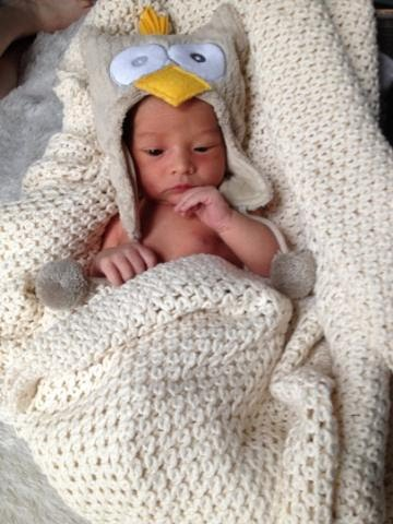Baby Owen born at St Luke's Birthing Center in Manhattan
